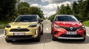 Le Toyota Yaris Cross hybride à l'essai face au Renault Captur E-Tech