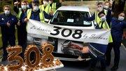 Peugeot 308 2 : Le dernier exemplaire est sorti de l'usine de Sochaux