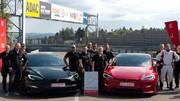 La Tesla Plaid a battu la Porsche Taycan au Nürburgring