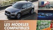 Ethanol : La liste des modèles compatibles E85 sans boîtier en France
