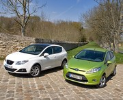 Essai Ford Fiesta 1.6 TDCi Titanium vs Seat Ibiza 1.9 TDI Gran Via : Pétillantes et économiques