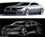 Une VW réservée aux USA : nouveau croquis de la cousine de la Passat