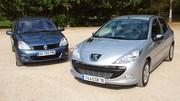 Essai Peugeot 206+ 1.4 HDi 70 ch vs Renault Clio Campus 1.5 dCi 65 ch : Les mamies font de la résistance !