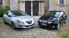 Essai Lancia Delta 1.6 Multijet 120 ch vs Honda Civic 2.2 i-CTDi 140 ch : Les atypiques