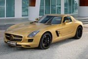 Mercedes SLS AMG : une version Desert Gold à Dubai