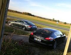 Essai  Porsche Panamera Turbo contre Mercedes CLS 63 AMG : Les folies douces