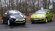 Essai Renault Twingo 1.2 75 ch vs  Ford Ka 1.2 69 ch : Quand elles arrivent en ville