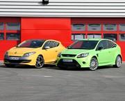 Essai Comparatif Ford Focus RS vs Renault Mégane R.S. : Un châssis et un moteur