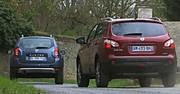 Essai Dacia Duster 1.5 dCi 85 contre Nissan Qashqai 1.5 dCi 106 : Faux frères, vrais ennemis