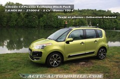 Essai Citroën C3 Picasso HDI 90 Exclusive Black Pack : le cube !