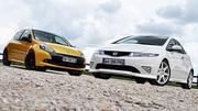 Essai Honda Civic Type R 201 ch vs  Renault Clio RS 203 ch : Duel en haute altitude