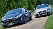 Essai Audi TT 2.0 TDI 170 ch vs Peugeot RCZ 2.0 HDi 163 ch : Le souffle coupé