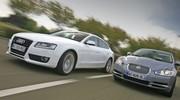 Essai Audi A5 Sportback V6 3.0 TDI vs Jaguar XF 3.0D : Techno ou philo?
