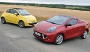 Essai Renault Wind TCE 100 et Fiat 500C 1.4 : Chic et pas cher