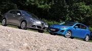 Essai Alfa Romeo Giulietta 2.0 JTDm 170 ch vs Mazda 3 2.2 MZR-CD 185 ch