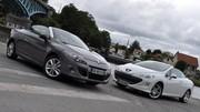 Essai Peugeot 308 CC 1.6 HDI 112 ch vs Renault Mégane CC 1.5 dCi 110 ch : Sobres découvrables