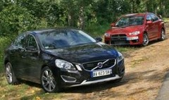 Essai Volvo S60 T6 AWD contre Mitsubishi Lancer Evolution X : Techniques de jeu