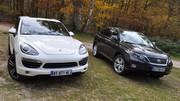 Essai Lexus RX 450h 299 ch vs Porsche Cayenne Hybrid 380 ch : Les monstres gentils