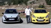 Essai Renault Clio RS vs Opel Corsa OPC