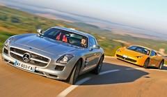 Essai Mercedes SLS AMG vs Ferrari 458 Italia : Double ration de récréation