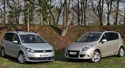 Essai Renault Scénic 1.5 dCi 110 ch vs Volkswagen Touran 1.6 TDI 105 ch