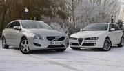 Essai Alfa Romeo 159 SW 2.0 JTDm 170 ch vs Volvo V60 2.0 D3 163 ch