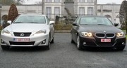 Essai BMW 320d EfficientDynamics vs Lexus IS 2 : Confrontation directe!
