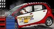 Mitsubishi i-Miev : elle passe l'épreuve du crash test