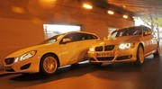 Essai Volvo V60 D3 Momentum vs BMW 320d Touring Edition Confort : Clair-obscur