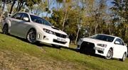 Essai Mitsubishi Lancer EVO X 2.0 295 ch vs Subaru Impreza WRX STi 2.5 300 ch : Les avions de chasse