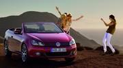 La VW Golf cabriolet se découvre