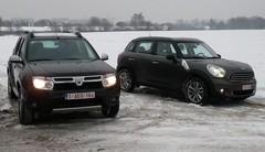 Essai Dacia Duster vs Mini Countryman : Les extrêmes réunis !