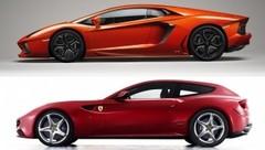 Ferrari FF / Lamborghini Aventador : deux visions de la sportivité