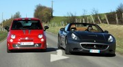 Essai Abarth 695 Tributo Ferrari vs Ferrari California : 2 visions différentes du charme italien