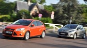 Essai Ford Focus 1.6 TDCi 115 ch vs Peugeot 308 1.6 e-HDi 112 ch : leçon d'agrément