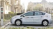 Premier anniversaire à Strabourg du test de la Prius hybride rechargeable