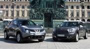 Essai Nissan Juke vs Mini Countryman : crépage de chignons