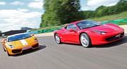 Essai Ferrari 458 Italia vs Lamborghini Gallardo LP550-2 Valentino Balboni : L'estocade finale