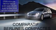 Comparatif : quelle est la meilleure berline compacte ?