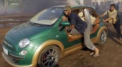 Libye : la Fiat 500 Capri de Mouammar Kadhafi