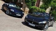 Essai Jaguar XK Cabriolet 385 ch vs Maserati GranCabrio 440 ch : Cabriolets de classe