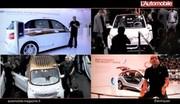 Les voitures électriques à Francfort : Quatuor branché