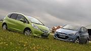 Essai Honda Jazz Hybrid 1.4 i-VTEC 98 ch vs Hyundai ix20 1.6 CRDi 90 ch : Hybride-essence ou Diesel