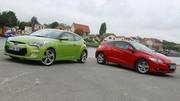 Essai Honda CRZ 1.5 i-VTEC 124 ch vs Hyundai Veloster 1.6 GDi 140 ch : A couper le souffle