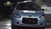 Seulement 4 étoiles au crash-test Euro NCAP pour la Fluence ZE de Renault