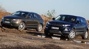Essai Audi Q3 2.0 TDI 177 ch vs Range Rover Evoque 2.2 SD4 190 ch : Sous les feux de la rampe