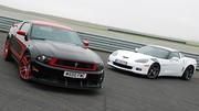 Essai Corvette C6 Grand Sport 437 ch vs Ford Mustang Boss 302 Laguna Seca 444 ch : Elles font parler la poudre