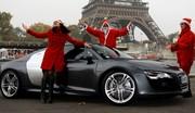 Test Audi R8 V10 par les drôles de dames de Caradisiac spécial Noël