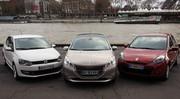 La Peugeot 208 face à la Renault Clio et la VW Polo