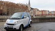 200 smart en autopartage à Lyon